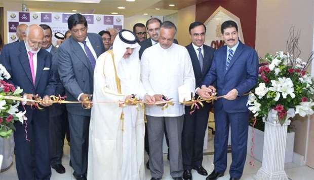 Qatari and Sri Lankan dignitaries at the inauguration of the QVC in Colombo