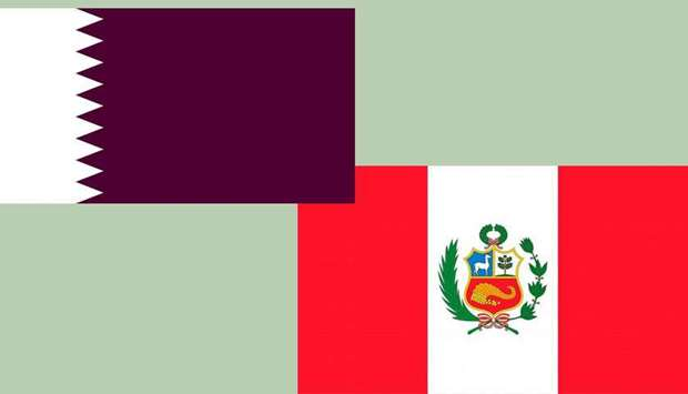 Qatar-Peru flags