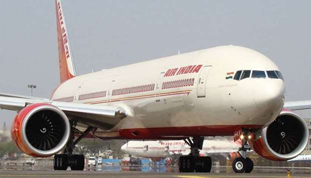 Air India B777 at Mumbai