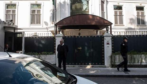 The residence of Saudi Arabia's Consul General Mohammad al-Otaibi is pictured in Istanbul