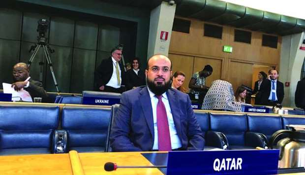 Massoud Jarallah al-Marri attending the FAO meeting in Rome