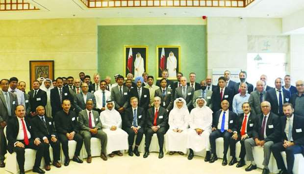 Nakilat officials at the Qatar Shipping Forum 2018 held in Doha recently