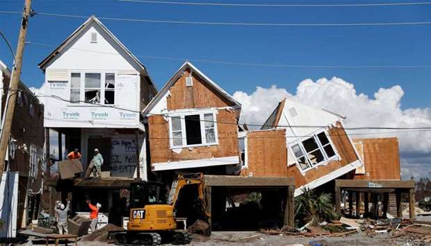Damage caused by Hurricane Michael is seen in Mexico Beach, Florida