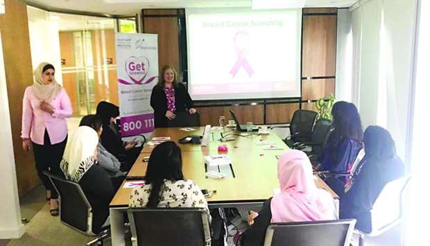Al Khalij Commercial Bank employees attend a session at the seminar