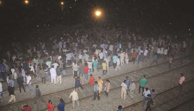 50 people crushed by train in Punjab