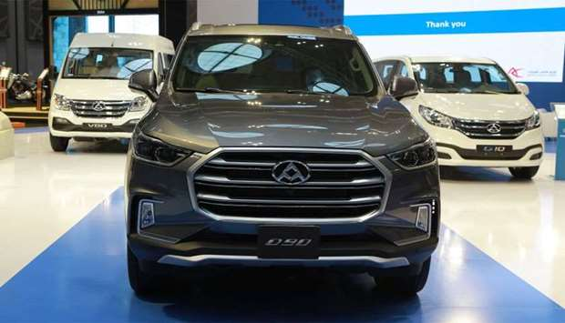 The Maxus D90 on show at Qatar Motor Show 2018
