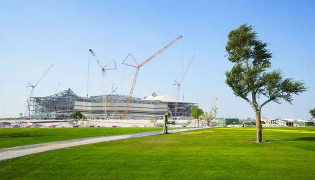 More than 350,000sqm of grass is being transported and transplanted from the nursery to the area sur