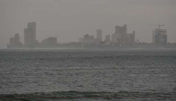 View from the Mazatlan port as the Hurricane Willa arrives to Mazatlan, in Sinaloa state, Mexico.