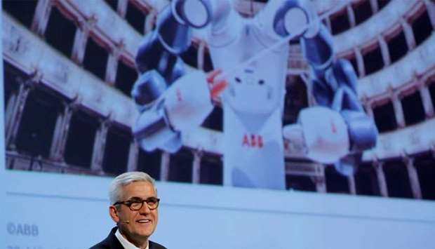 CEO Spiesshofer of Swiss power technology and automation group ABB