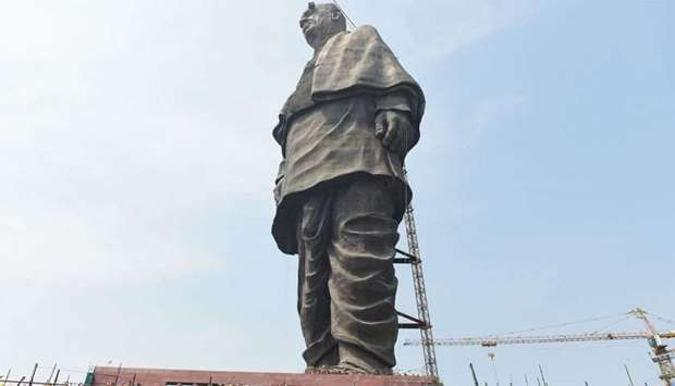 the world's tallest statue dedicated to Indian independence leader Sardar Vallabhbhai Patel