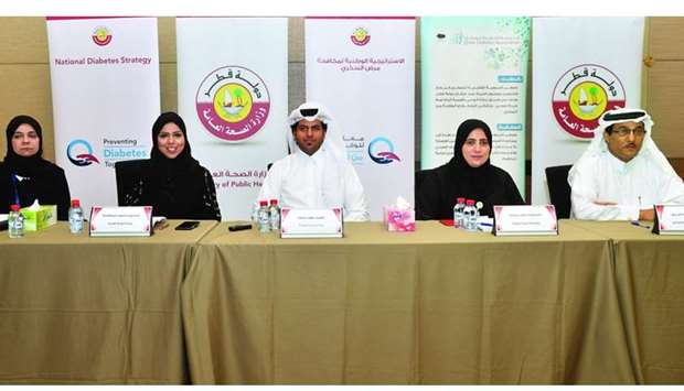 The officials from healthcare organisations at the press conference