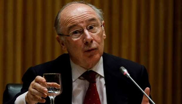 Former IMF Managing Director Rodrigo Rato attends a parliamentary commission in Madrid, Spain