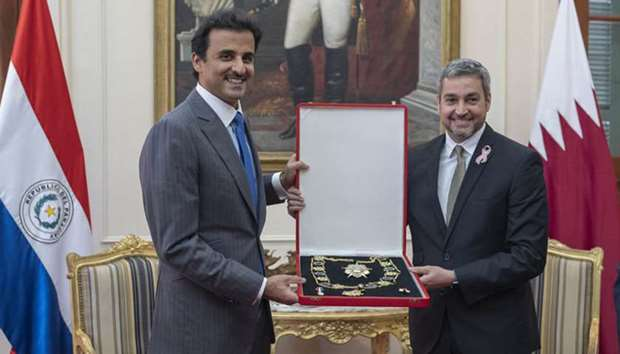 His Highness the Amir Sheikh Tamim bin Hamad al-Thani's visit to Paraguay