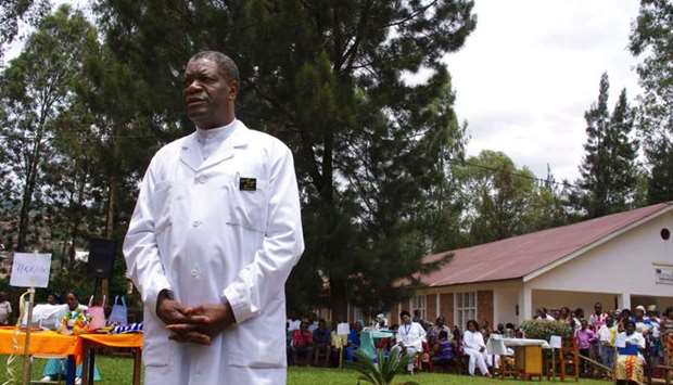 Congolese gynaecologist Denis Mukege poses at Panzi Hospital, in the outskirts of Bukavu.