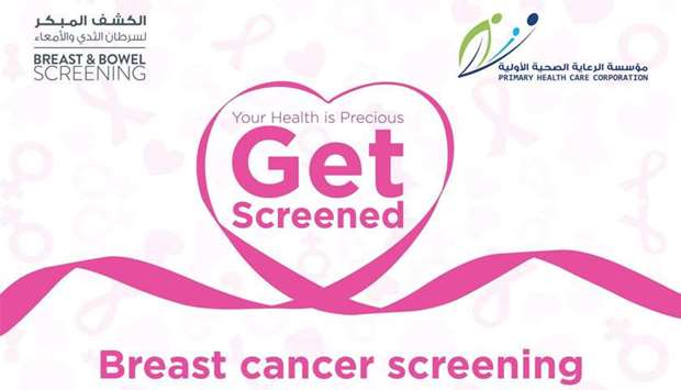 'Screen For Life' campaign to mark breast cancer awareness month