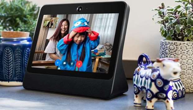 A smart speaker device by Facebook Inc. called Portal is shown in this photo released by Facebook In