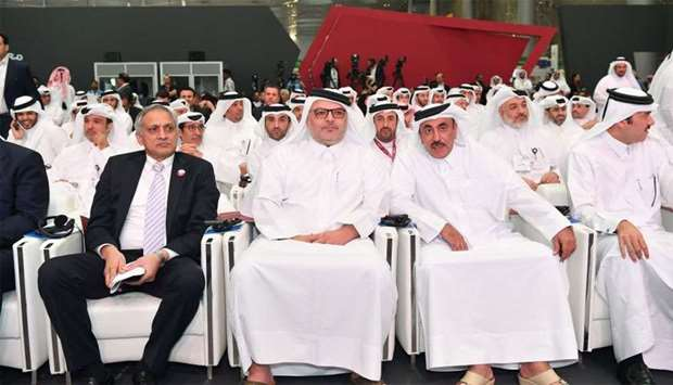 Ashghal president Saad bin Ahmed al-Mohannadi with HE the Minister of Transport and Communications J
