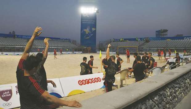Athletes train at Katara ahead of the ANOC World Beach Games.