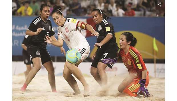 British women edge out Paraguay in beach soccer