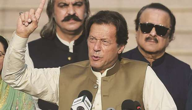 Imran blasts media bias over HK unrest, Kashmir