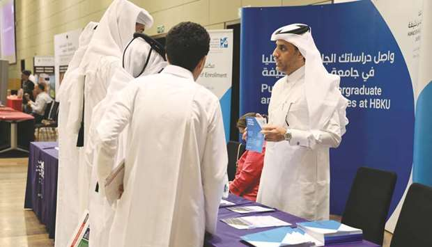 HBKU introduces programmes to prospective students at DEC