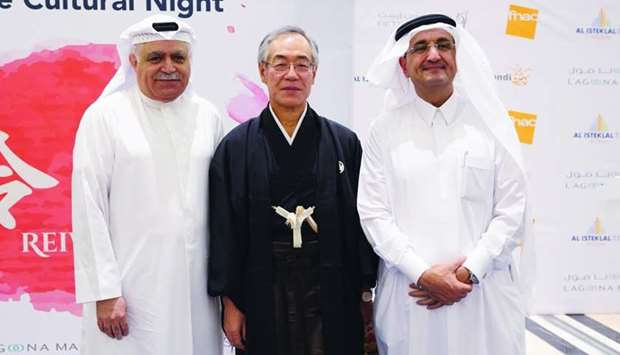 Japanese ambassador Kazuo Sunaga is joined by Darwish Holding chairman and managing director Bader a