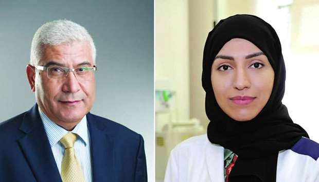 Dr Nady Mohamed - Chief of Gynaecology (L), Dr Aisha Ahmad Yousuf - Director of Reproductive Surgery