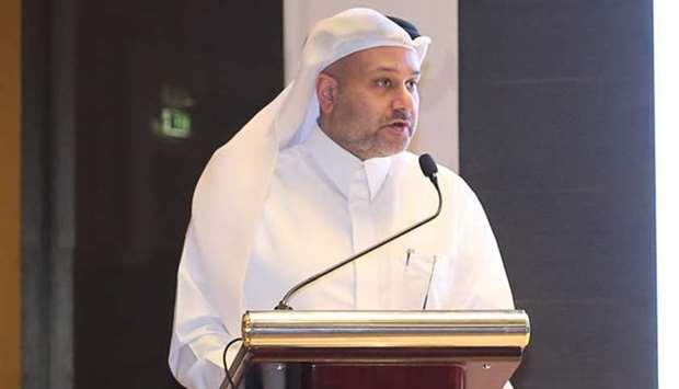 Al-Jaida addressing the Qatar-Korea Business Forum.