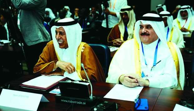 HE the Speaker of the Shura Council Ahmed bin Abdullah bin Zaid al-Mahmoud attending the 205th Gover