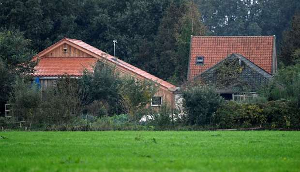 A view of a remote farm where a family spent years locked away in a cellar, according to Dutch broad