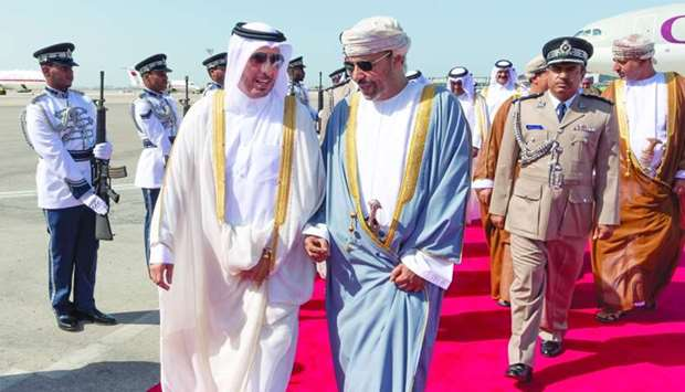 The Prime Minister and the accompanying delegation were received at Muscat International Airport