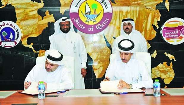 HE the Chairman of General Authority of Customs, Ahmed bin Abdullah al-Jamal, and Chief Executive Of