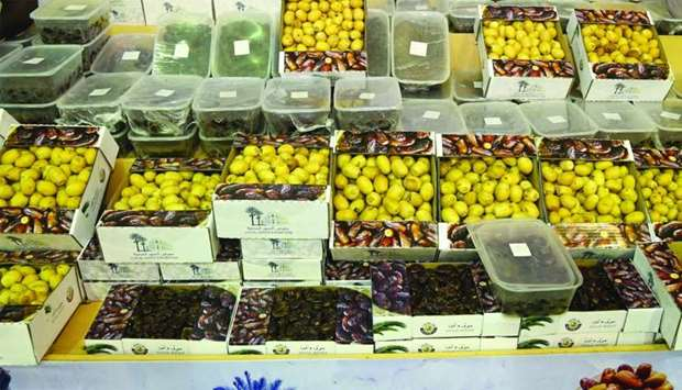 More than a dozen local varieties of dates are on sale at the festival.