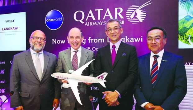 Qatar Airways Group chief executive HE Akbar al-Baker with other dignitaries.