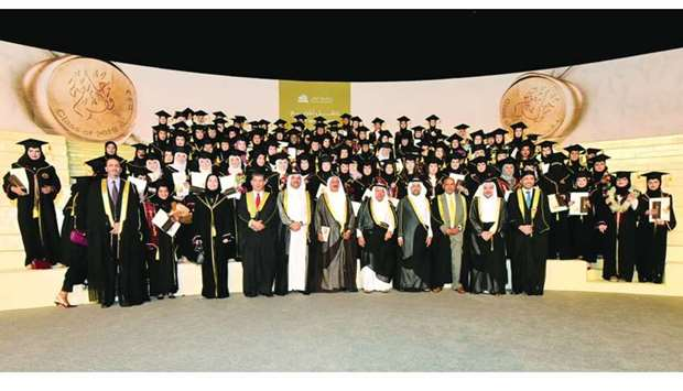 The College of Business and Economics graduating class.