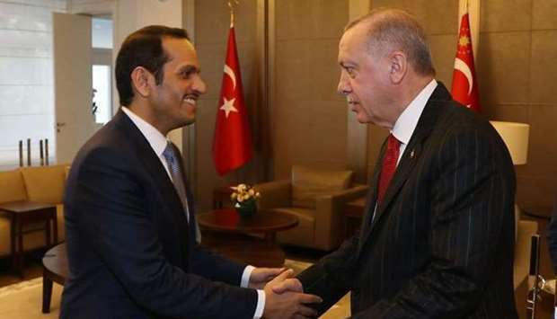 Turkish President meets Deputy Prime Minister and Minister of Foreign Affairs