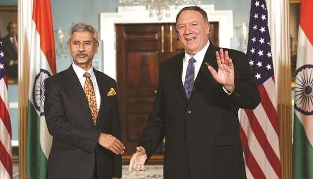 US Secretary of State Mike Pompeo meets External Affairs Minister S Jaishankar at the US Department