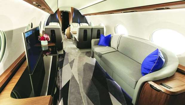 Interior of G700 from Gulfstream Aerospace. Qatar Airways has placed 10 orders for G700.