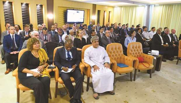 Representatives from GECF member countries and diplomats from different embassies in Doha attend the