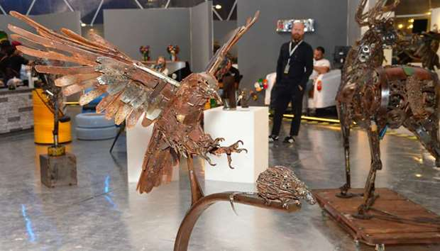 The Scrap Art Exhibition at the West Square of Souq Waqif