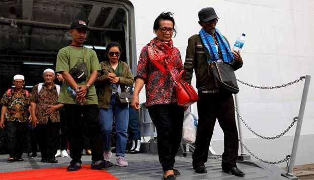 Relatives of passengers who died on Lion Air JT-610 that crashed into the Java sea, arrive at Jakart
