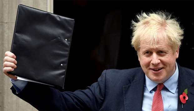Britain's Prime Minister Boris Johnson is seen on Downing Street in London