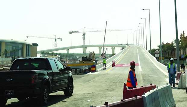 The new flyover bridge at Umm Lekhba interchange will be opened on Nov 2.