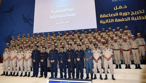 Cadets with Major General Dr Abdullah Yousef al-Mal, advisor to the Minister of Interior and Deputy