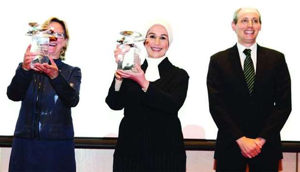 The awards were received by the deputy commissioner-general of the Qatar Pavilion at the expo, Dr Fi