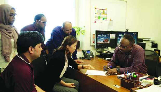 Prof Nimir O Elbashir and his research team at work at Tamuq.