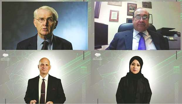 Speakers on the first day of QF's 'Empowering Innovation' event