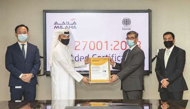 """Obtaining the """"ISO 27001"""" standard confirms that Milaha has the requisite information security contr"""