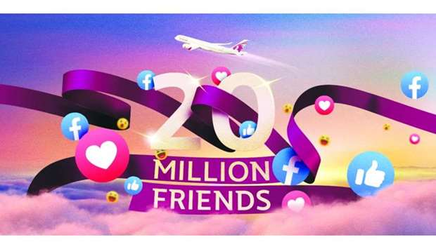 The national airline reaches more than 26mn people across all its social media platforms.