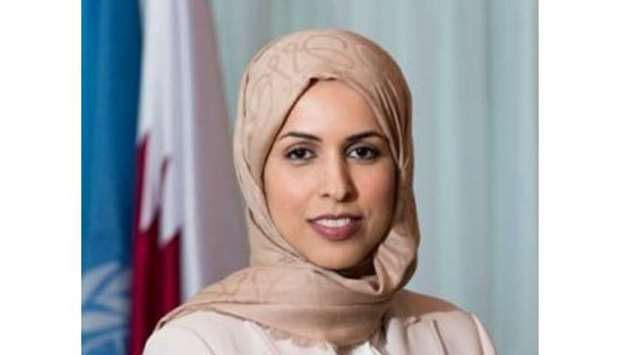 HE the Permanent Representative of Qatar to the United Nations Ambassador Sheikha Alya bint Ahmed bi